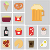 Icons flat color vector. Food and drink icon. Icon beer Royalty Free Stock Image