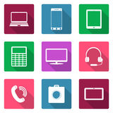 Icons flat design. Electronic devices Stock Photos