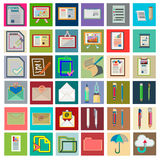Icons with flat design elements of financial management items Royalty Free Stock Photography