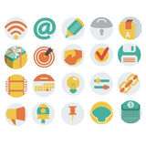 Icons in Flat Design. Vector illustration, eps 10 Royalty Free Stock Images