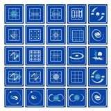 Icons. Nine squares in flow arts Royalty Free Stock Photography