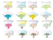 Icons with flowers Royalty Free Stock Photography