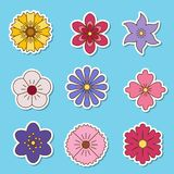 Icons of flowers. Stock Photos