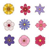 Icons of flowers. Stock Photography