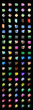 Icons Folder Crystal_100 nos. Royalty Free Stock Photos