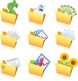Icons of folders - 1 Stock Photos