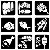 Icons_food Stockbilder