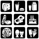 Icons_food Fotos de Stock