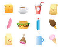 Icons for food Royalty Free Stock Photography
