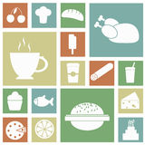 Icons food collage Stock Images