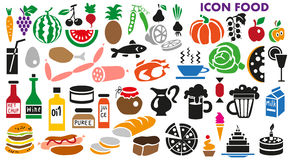 Icons food Royalty Free Stock Photography