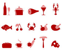 Icons food set. Stock Images