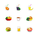 Icons food Royalty Free Stock Image