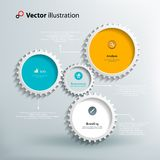 Icons and footnotes for information graphics Royalty Free Stock Photo