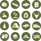 Icons forestry stock photo