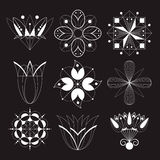 Icons in the form of flowers Stock Image