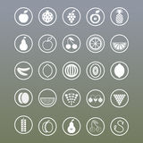 Icons in the form of fruits Royalty Free Stock Images