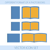 Icons of formats photobooks Royalty Free Stock Photo
