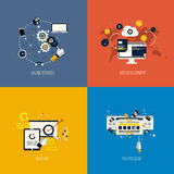 Icons foronline services, web development, analysis and pay per. Click. Flat style. Vector Stock Images