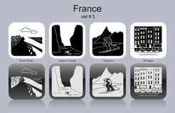 Icons of France Stock Images