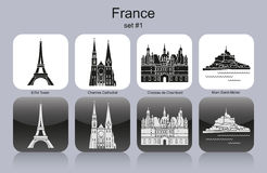 Icons of France Royalty Free Stock Photo
