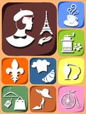 Icons France Royalty Free Stock Images