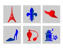 Icons-France Royalty Free Stock Photos