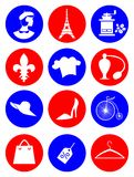 icons France Royalty Free Stock Image