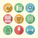 Icons for freelance and business Stock Image