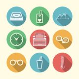 Icons for freelance and business Royalty Free Stock Photo