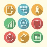 Icons for freelance and business Stock Photography