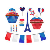 Icons for french style party Royalty Free Stock Image