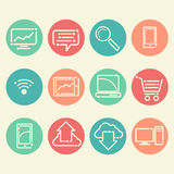 12 icons in a fresh, new style Royalty Free Stock Photo