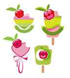 Icons of the fruit sorbets Royalty Free Stock Photos