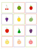 Icons: Fruits Stock Images