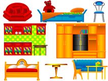 Icons of furniture Royalty Free Stock Images