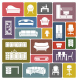 Furniture icon set Stock Photography