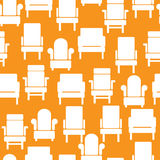icons of furniture on seamless pattern Royalty Free Stock Photo