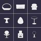 Icons furniture. Set of icons on a theme furniture Royalty Free Stock Images