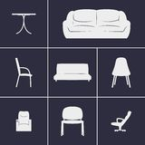 Icons furniture. Set of icons on a theme furniture Royalty Free Stock Photo