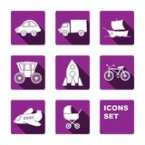 Icons fut transport Stock Photos