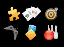 Icons for games, leisure and gambling Stock Photography