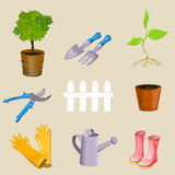Icons garden tools Stock Image