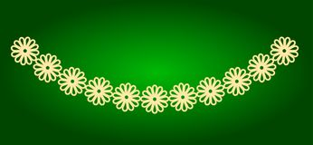 Icons of garlands of flowers. Holiday Ugadi Stock Photo