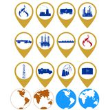 Icons gas industry Stock Photo