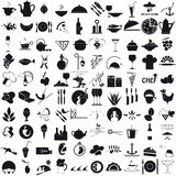 Icons for the gastronomy stock illustration