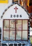 Icons at the gates of the monastery of Saint Panteleimon in Bulgaria Stock Photo