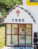 Icons at the gates of the monastery of Saint Panteleimon, Bulgaria Royalty Free Stock Photography
