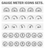 Icons. Gauge meter icons sets on white background Stock Photography