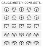 Icons. Gauge meter icons sets on white background Royalty Free Stock Photos